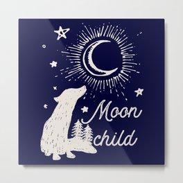 Moon child Metal Print