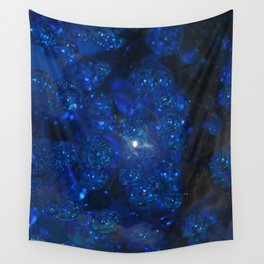 Blue Glass Bubbles Wall Tapestry