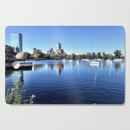 Sailboats on the Shore Cutting Board