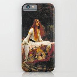 John William Waterhouse - The lady of shalott iPhone Case
