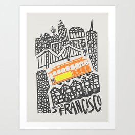 San Francisco Cityscape Art Print