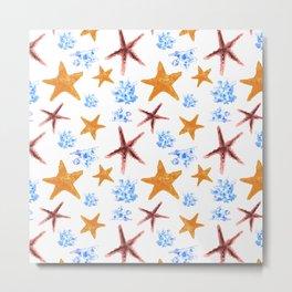 Starfish Pattern No. 1 Metal Print