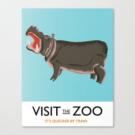 visit the zoo hippopotamus edition Canvas Print
