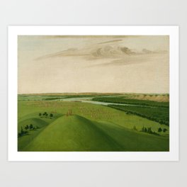 George Catlin - Fort Union, Mouth of the Yellowstone River Art Print