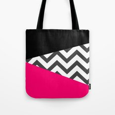Color Blocked Chevron 8 Tote Bag