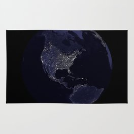 Earth Globe Lights Rug