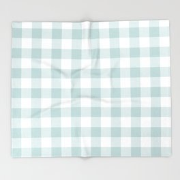 Charcoal Sky Checker Gingham Plaid Throw Blanket