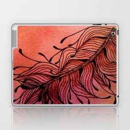 Doodled Autumn Feather 01 Laptop & iPad Skin