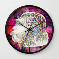 ape Wall Clocks featuring Ape by jnk2007