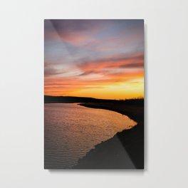 standing rock sunset Metal Print