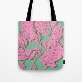 mint pink garden Tote Bag
