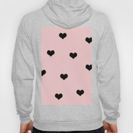 Modern heart pattern in pink and black Hoody