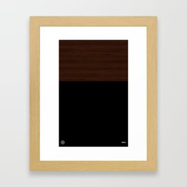 Modern Minimal Collection / Dark Framed Art Print