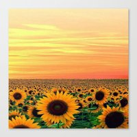 sunflower Canvas Prints featuring Sunflower by Don't Be A Dick