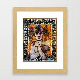 AND SHE STOOD AGAINST THEM ALL Framed Art Print