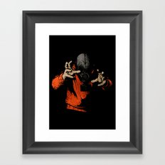 Black Light Framed Art Print