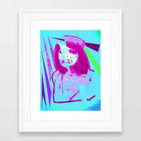 nurse Framed Art Prints featuring Nurse by Fire Child