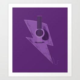Electric - Acoustic Lightning Art Print