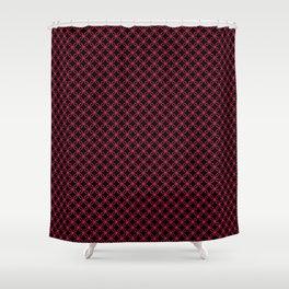 Interlocked Rings in Pink Shower Curtain