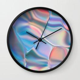 Iridescent Foil Wall Clock