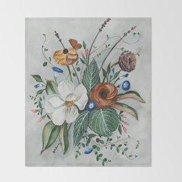 Moody Magnolia Arrangement Throw Blanket
