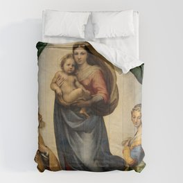 The Sistine Madonna Oil Painting by Raphael Comforters