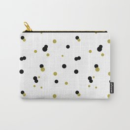 Gold and black dots pattern Carry-All Pouch