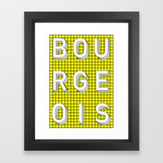 Bourgeois Framed Art Print