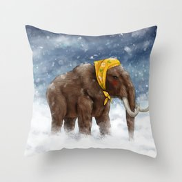 Babushka Mammoth Throw Pillow