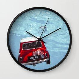 deep water swimming mini #1 Wall Clock