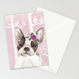 Animals in Forest - The little French Bulldog Stationery Cards