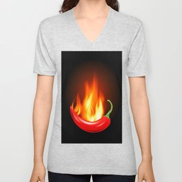 Hot Pepper Unisex V-Neck