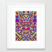 no face Framed Art Prints featuring Face by Toshima115