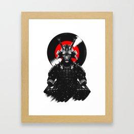 Samurai Dj Warrior Framed Art Print
