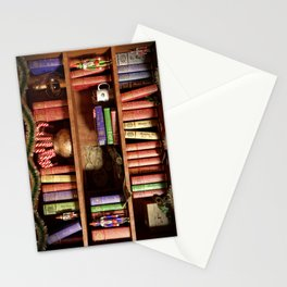 Santa's Bookshelf Stationery Cards