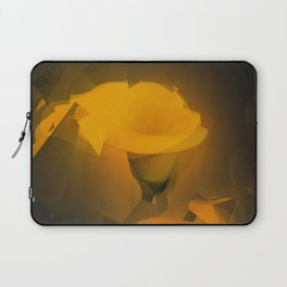 Calla Lily Warm Yellow Cubist Effect Laptop Sleeve