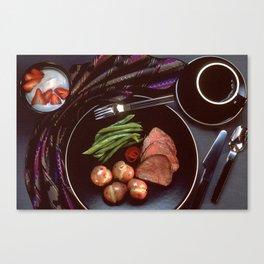 Healthy Dinner  Canvas Print