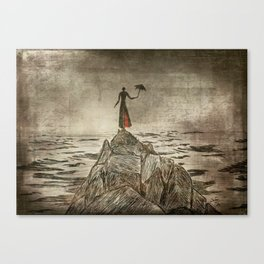 Monsieur Parapluie Canvas Print