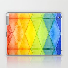 Geometrict Abstract Rainbow Watercolor Pattern Laptop & iPad Skin