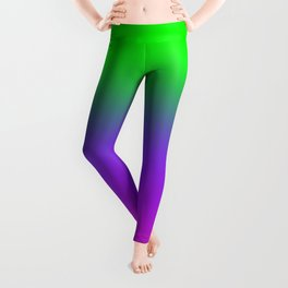 OMBRE -GRADIENT- PLASTIC PINK PROTON PURPLE- UFO GREEN WORLDWIDE TRENDING COLOR / COLOUR Leggings
