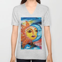 Sun and Moon United Unisex V-Neck