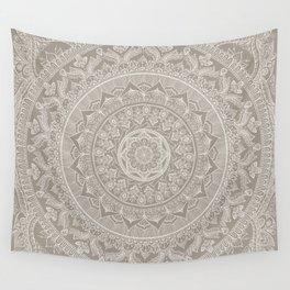 Mandala - Taupe Wall Tapestry