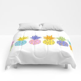 Colorful Pineapples Comforters