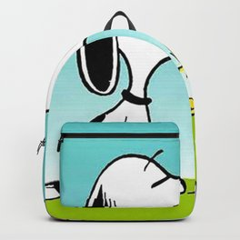 snoopy flower and music Backpack