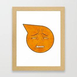 soul eater symbol- excalibur face Framed Art Print