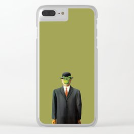 In the style of Magritte Clear iPhone Case