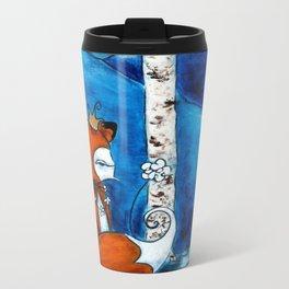 Winter Moon Metal Travel Mug