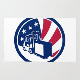 American Logistics USA Flag Icon Rug