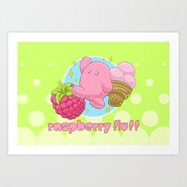 Raspberry Fluff Art Print