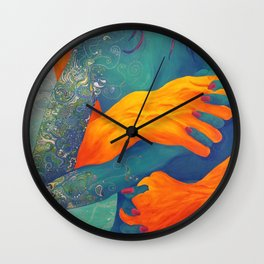 Gripping Embrace Wall Clock